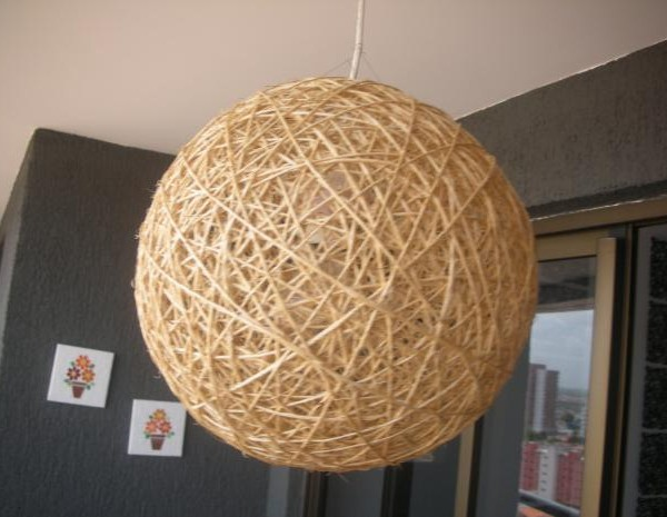 L mparas de cuerda comprarlas o hacerlasideas para - Lamparas originales de techo ...