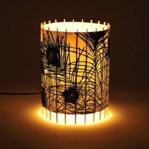 L mparas de mesa de papel f cil de hacerideas para - Como decorar tulipas de lamparas ...