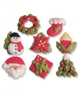 Figuras-de-azúcar-Navidad-variadas-para-decorar-